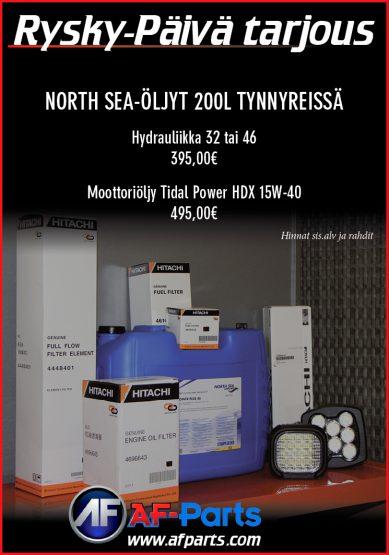 Rysky-Päivä tarjous: North Sea -öljyt 200l tynnyreissä