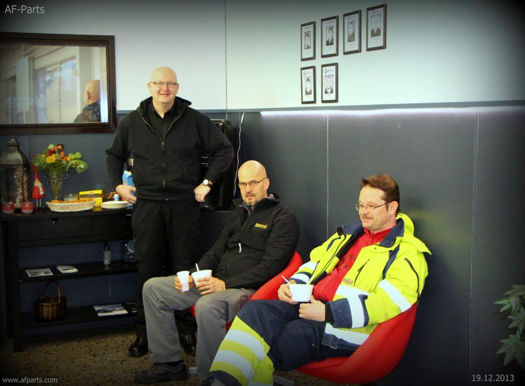 17.-19.12.2013 Averfin Oy tarjoili asiakkailleen keittoa AF-Parts noutomyymälässä.